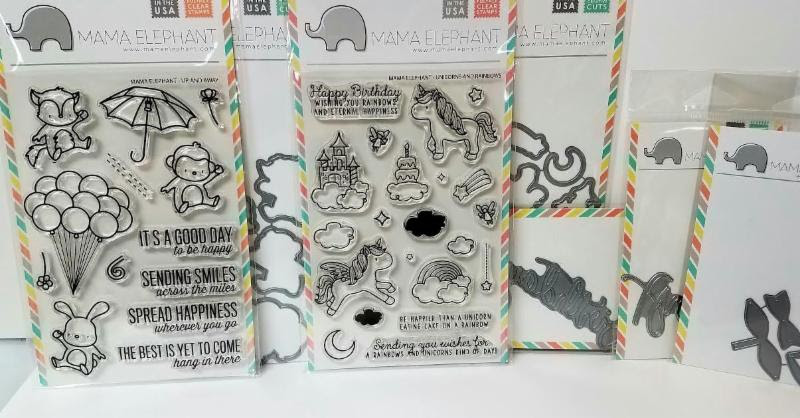 Mama Elephant Stamps and Dies