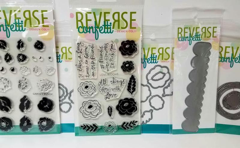Reverse confetti Stamps and Dies